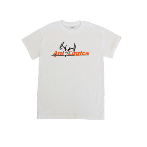 ani-logics original white t-shirt