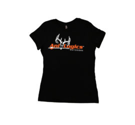 ani-logics womens black t-shirt