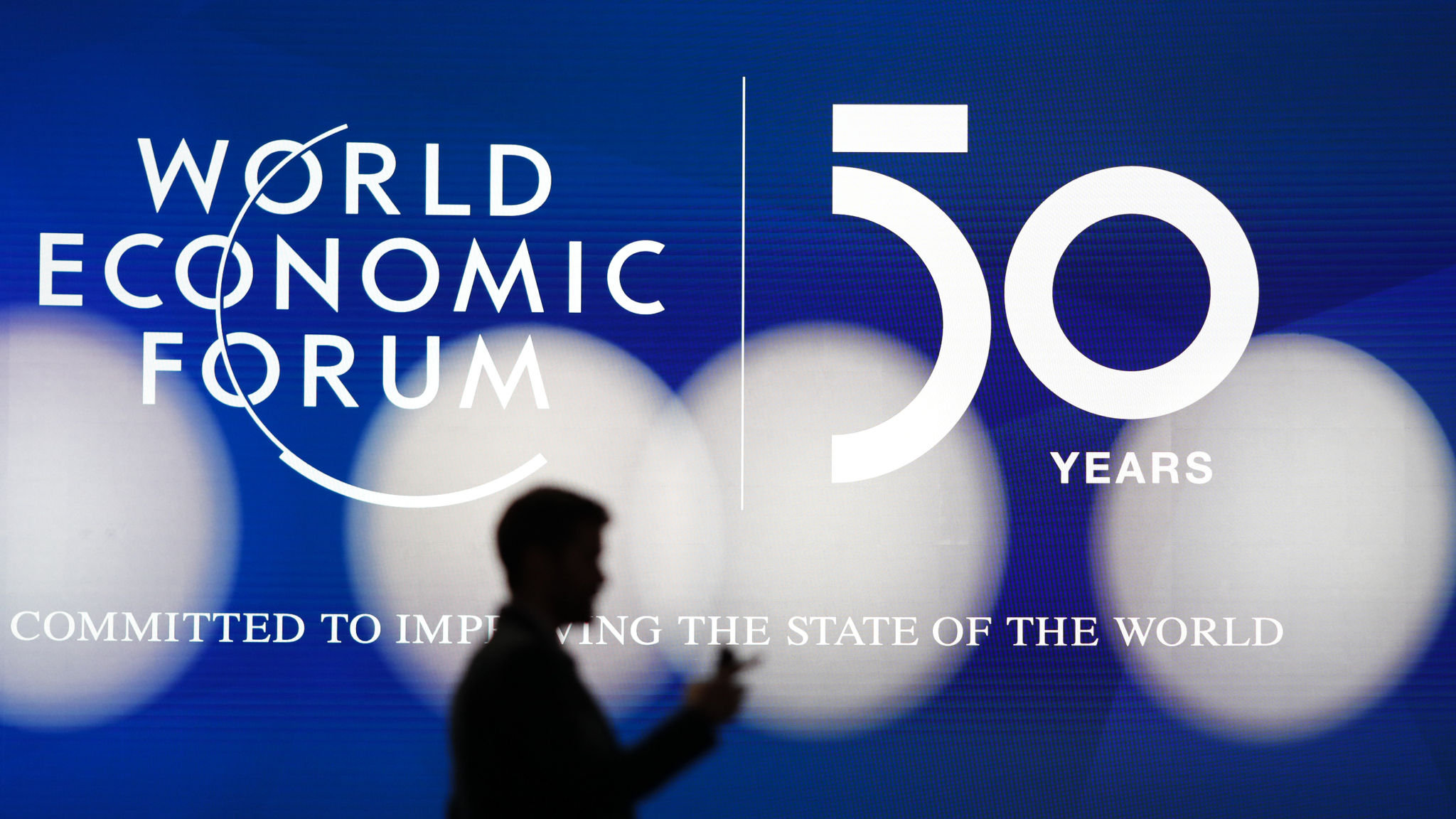 The World Economic Forum (WEF) marks its 50th anniversary