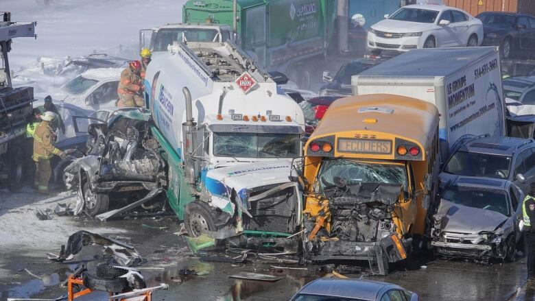 Two persons were killed and 90 people were injured by accident