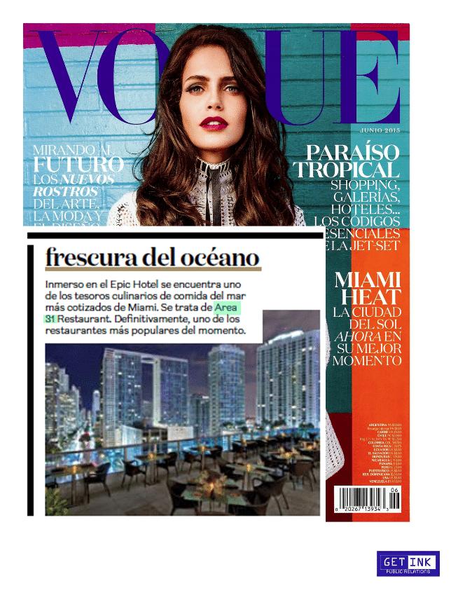 Area 31 Miami Vogue Mexico - Get Ink PR