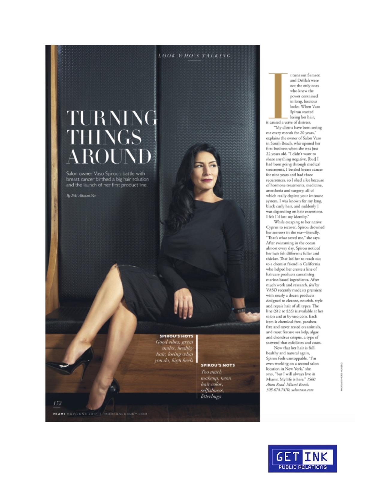 Salon Vaso Miami Magazine - Get Ink PR