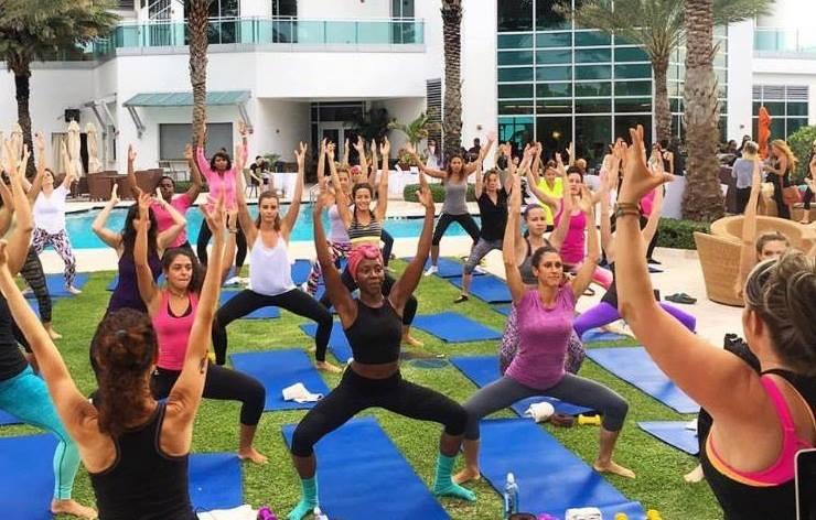 Exhale Spa Bal Harbour Yoga Poolside - Get Ink Pr