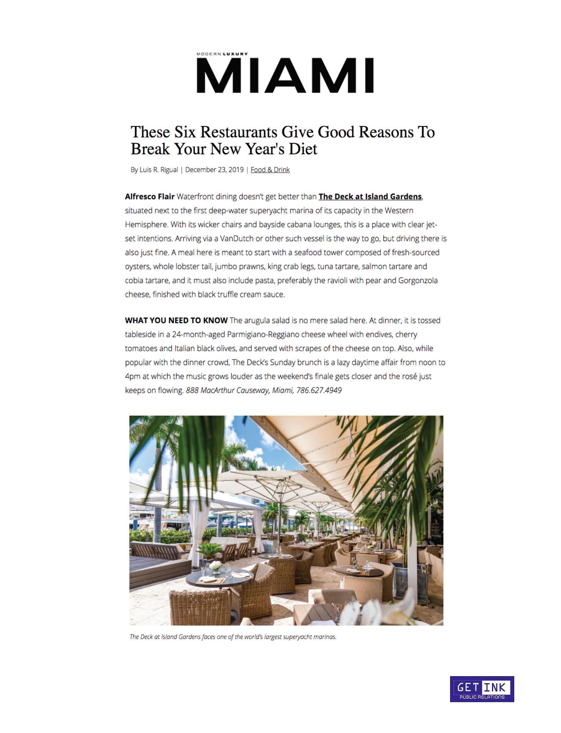 The Deck at Island Gardens Miami Magazine - Get Ink Pr