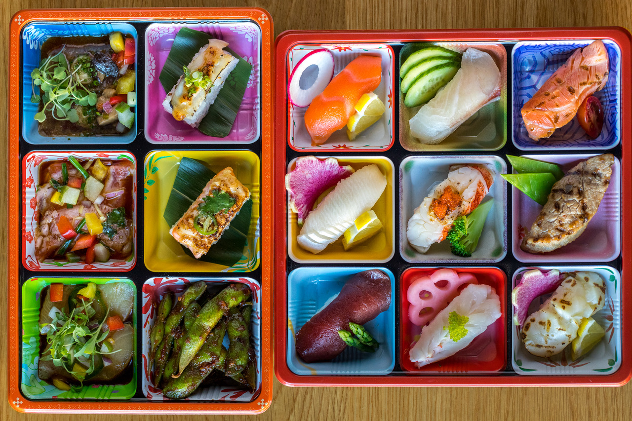 Sushi Den, Izakaya Den, Ototo Den bento box - Get Ink Pr