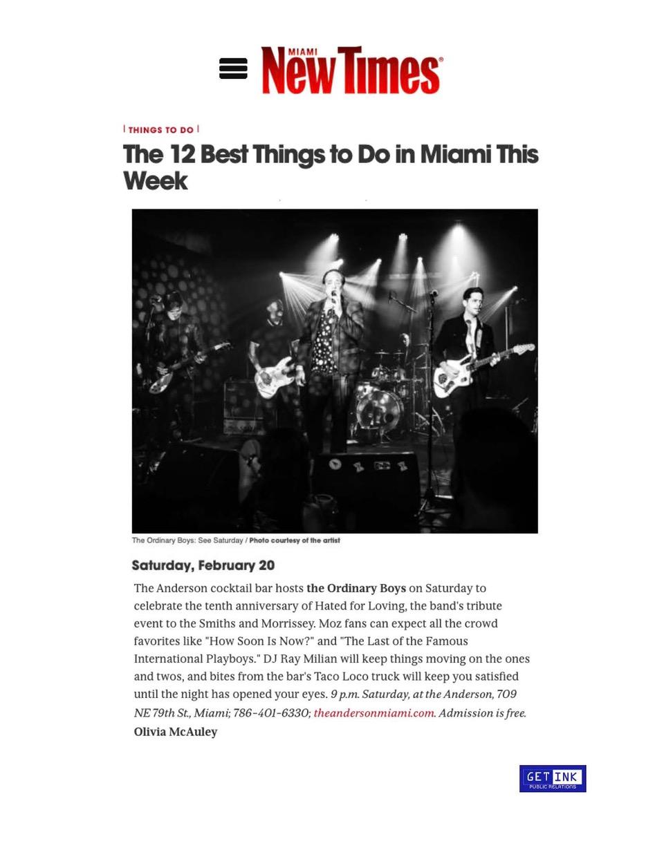 The Anderson Miami in Miami New Times - Get Ink PR