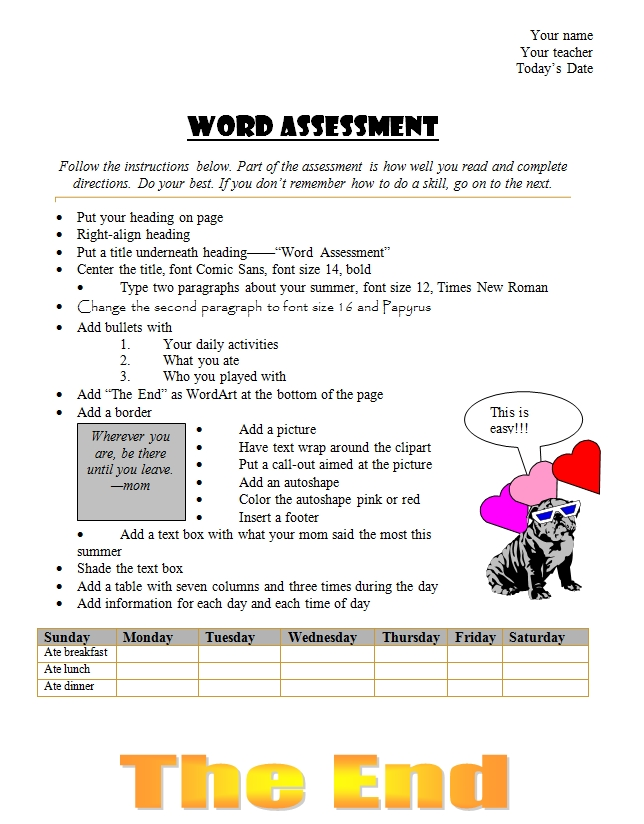 word summative