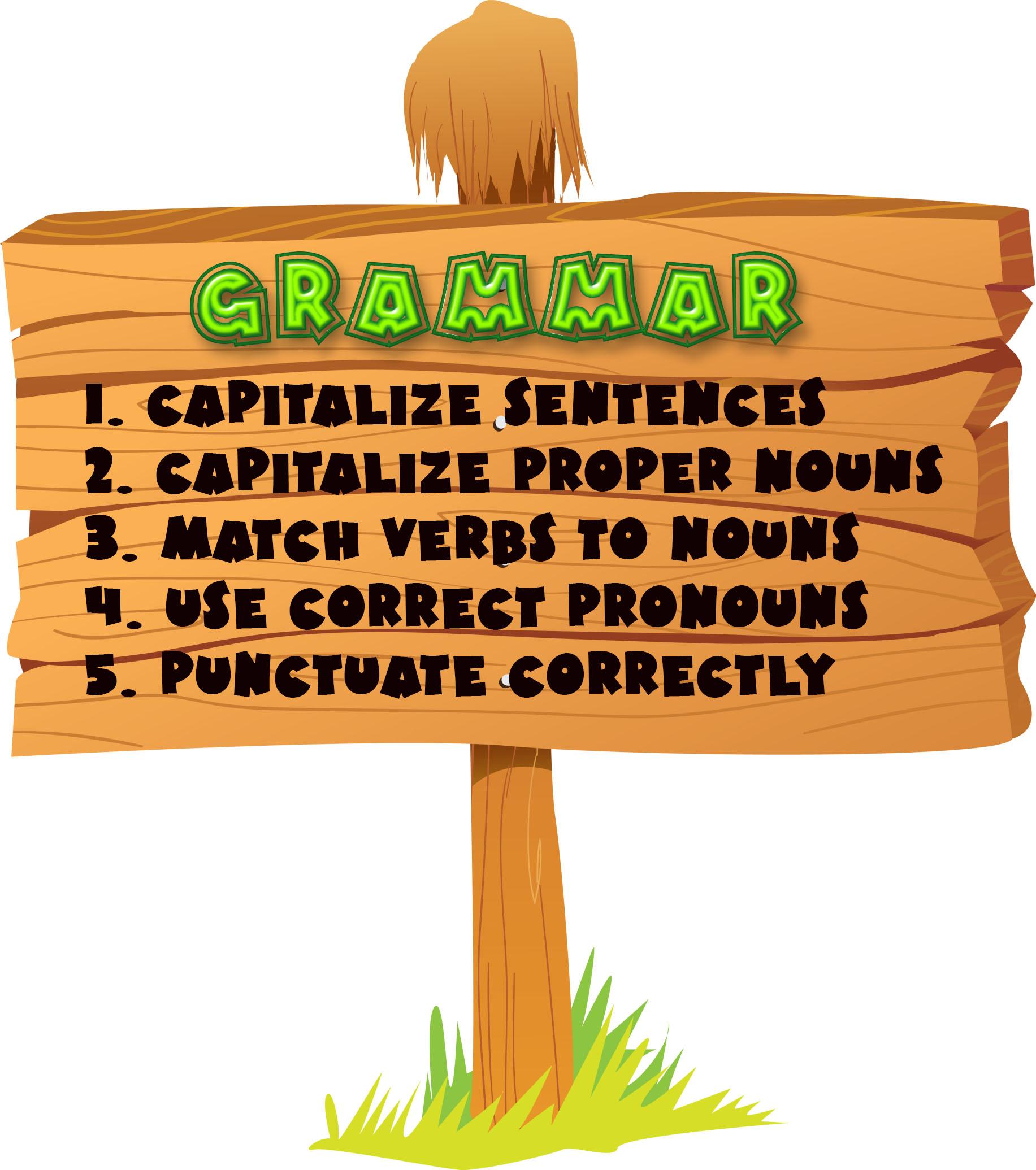 grammar sign