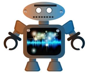 vector art robot man