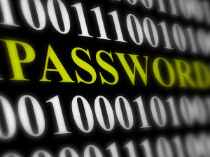 9587061 internet password security concept binary code with te