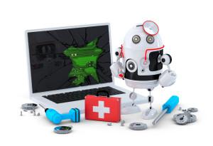 Medic Robot Laptop repair concept