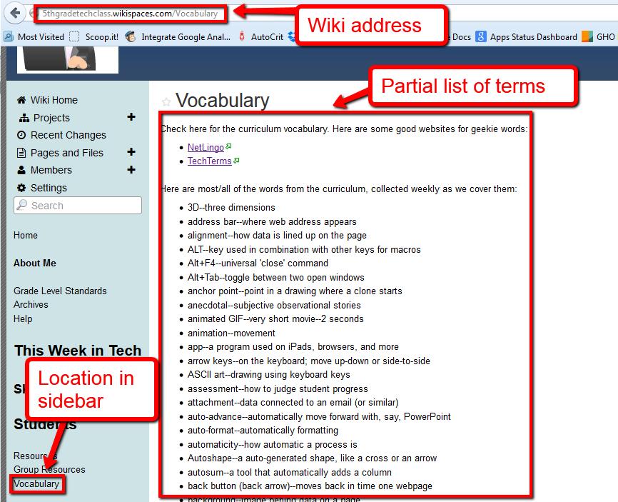 geek vocabulary