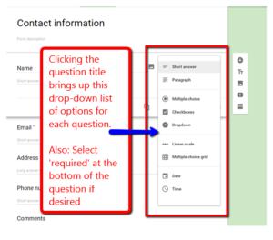 google forms quiz