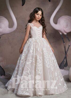 Disney inspired princess dress with major appliqués all over and designer bodice