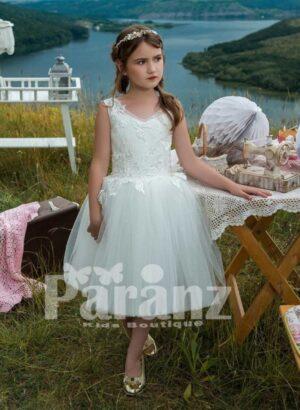 Disney inspired tea length tulle skirt dress in pure white