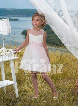 Soft white summer dress with tulle skirt