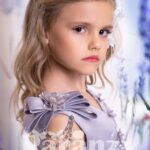 Beautiful sequin floral design bodice with multi-layer tulle skirt dress in pink hue for girls