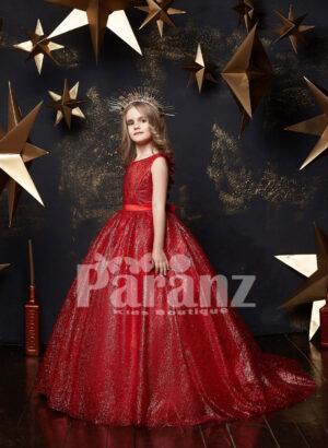 Glitz high volume long tulle skirt dress with sleeveless bodice