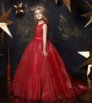 Long tulle skirt Ball Gown Party dress in Red