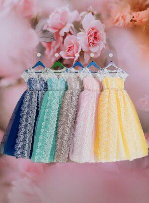 Pretty princess long tulle skirt dress for girls