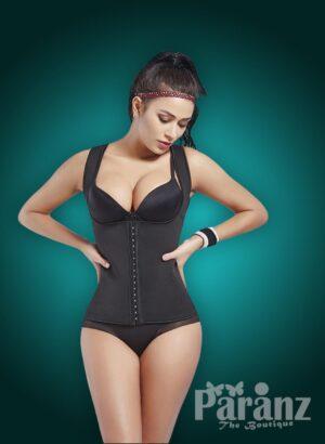 Open-bust style front hook closure custom fit underwear body shaper New view