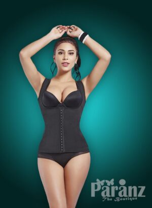 Open-bust style front hook closure custom fit underwear body shaper new