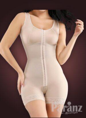 Sleeveless front hook closure custom fit tummy slimming body shaper
