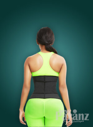 Waist slimming super comfortable hourglass shaper with two type custom closures back sidde view new
