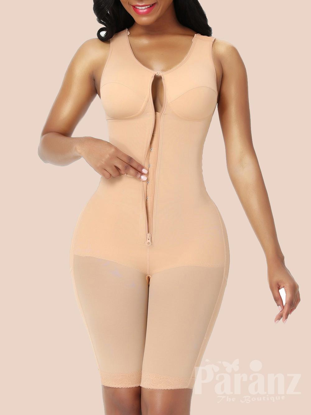 Full Body Shaper Lace Open Crotch Abdominal Control