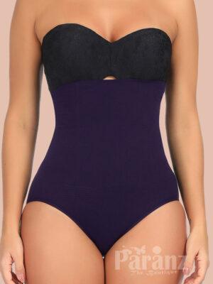 Amazing Dark Purple High Waist Seamless Panty Large Size Close Fit