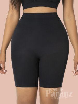 Black High Waist Butt Lifter Shapewear Shorts Tight Fit