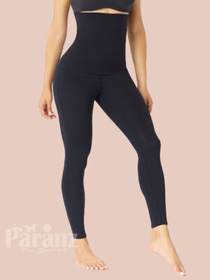 Black High Waist Shaping Leggings Butt Lifting Slimming Tummy