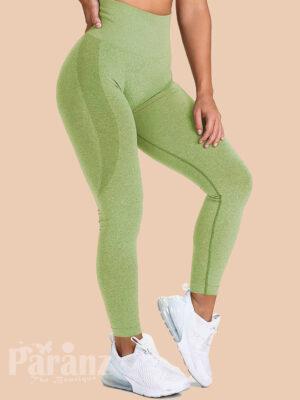 Charming Green Butt Enhance Full Length Yoga Legging For Streetshots