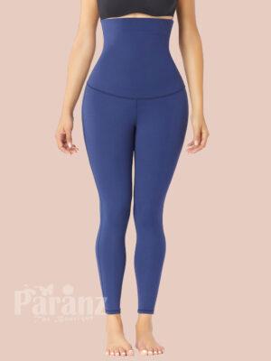 Custom Logo Dark Blue Doouble-Layer Body Shaper Ankle Length