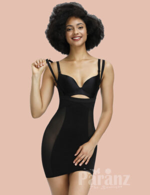 Extra Firm Control Black Big Size Adjustable Strap Body Shapewear