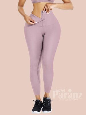 Light Pink 2-In-1 Shapewear Leggings High Waist Curve Creator