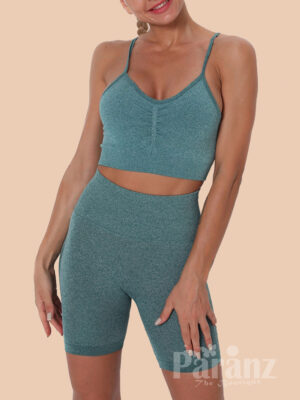 Running Suit Seamless Solid Color Strap Fashion Insider