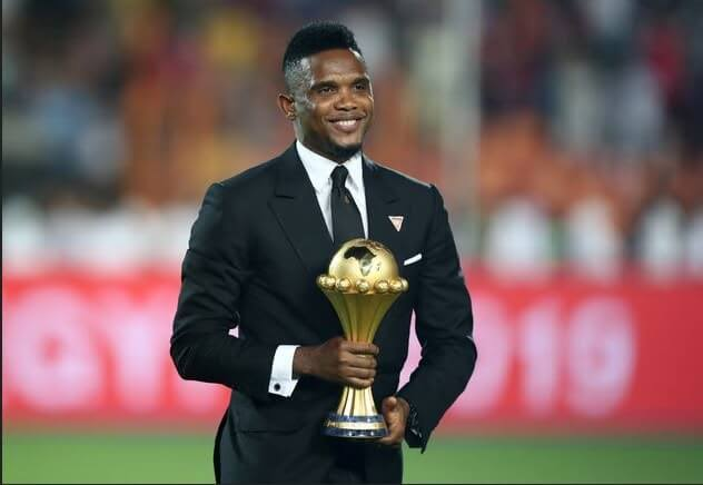Samuel Eto'o na Perezida wa CAF, Ahmad Ahmad bari mu Rwanda
