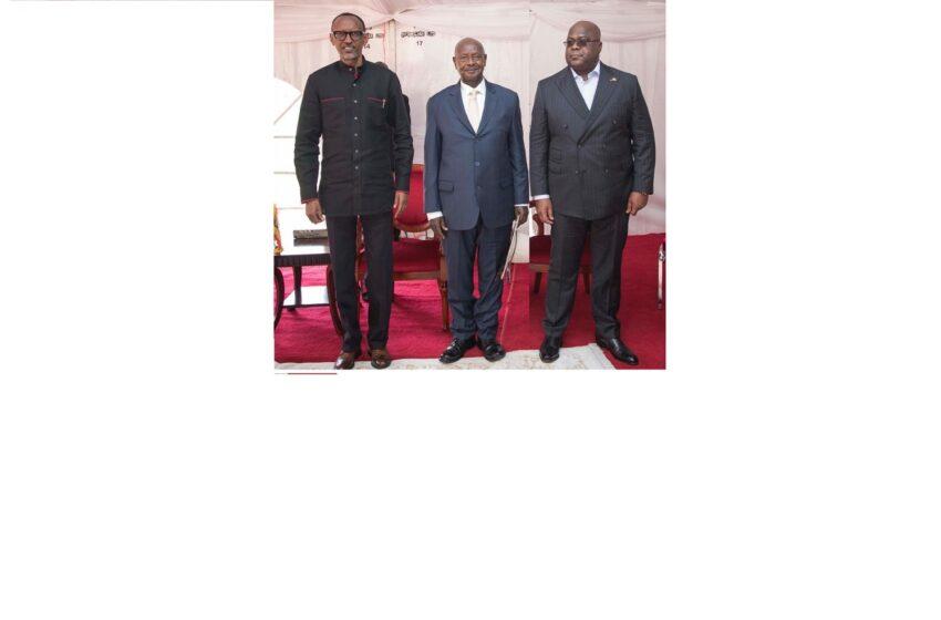 Tshisekedi yatumiye Kagame, Museveni na Ndayishimiye ngo bazahurire i Goma baganire