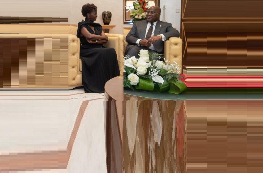 Amafoto: L. Mushikiwabo yahuye na ba Perezida barimo Tshisekedi, Touadera, Déby,…