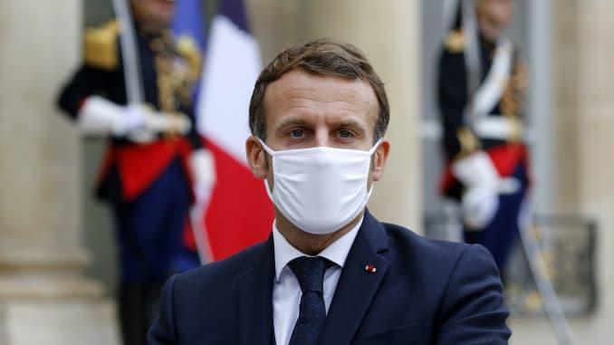 Emmanuel Macron uyobora u Bufaransa yanduye COVID-19