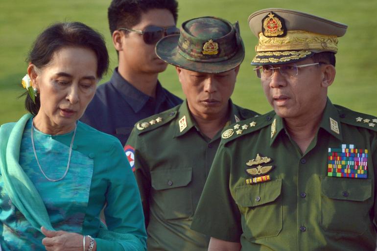 Abasirikare bafashe ubutegetsi bafunga Aung San Suu Kyi bashinja ishyaka rye ubujura mu matora