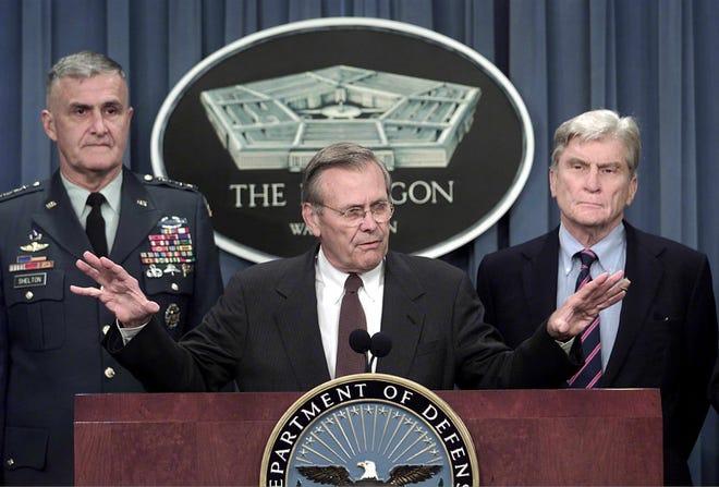 Rumsfeld wari Umunyabanga wa Leta ushinzwe ingabo igihe Bush atera Afghanistan na Irak yapfuye