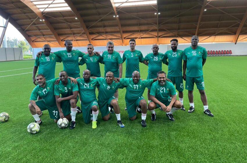 Perezida wa FERWAFA yagaragaye mu bakinnyi 11 b'ikipe y'abayobozi ba CAF