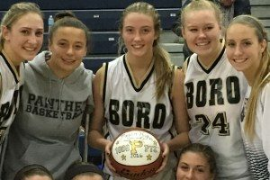 Congrats to Megan Hughes on getting her 1000 point.