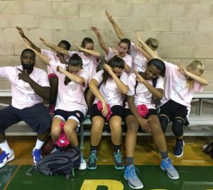 A lttle dab by Erika(far right) and Shoreshot teammates!