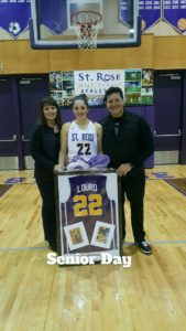 JEN LOURO AND HER PROUD PARENTS...that's two D1 players, Mr and Mrs Louro👍