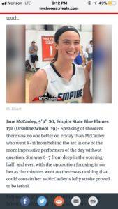 "The ""baby face assassin"" Jane McCauley was sensation"