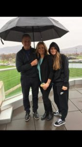 Dad and step mom Laura Lithgow has seen rainy days become smiling days