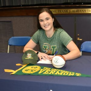 Jane McCauley' competitive nature is why she continued driving 3 hours on weekends to NBS...it no surprise she will be attending THE U OF VERMONT